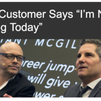 greeting customers
