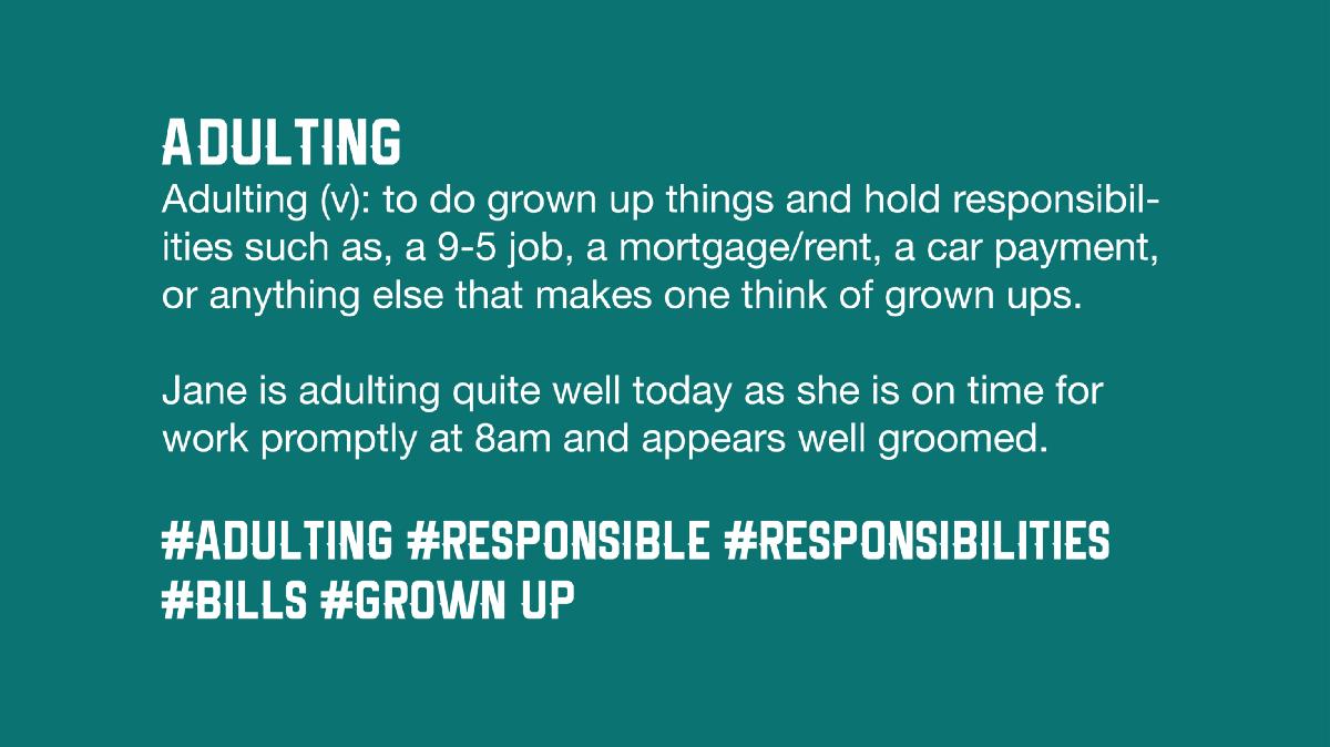 adulting is keeping you broke