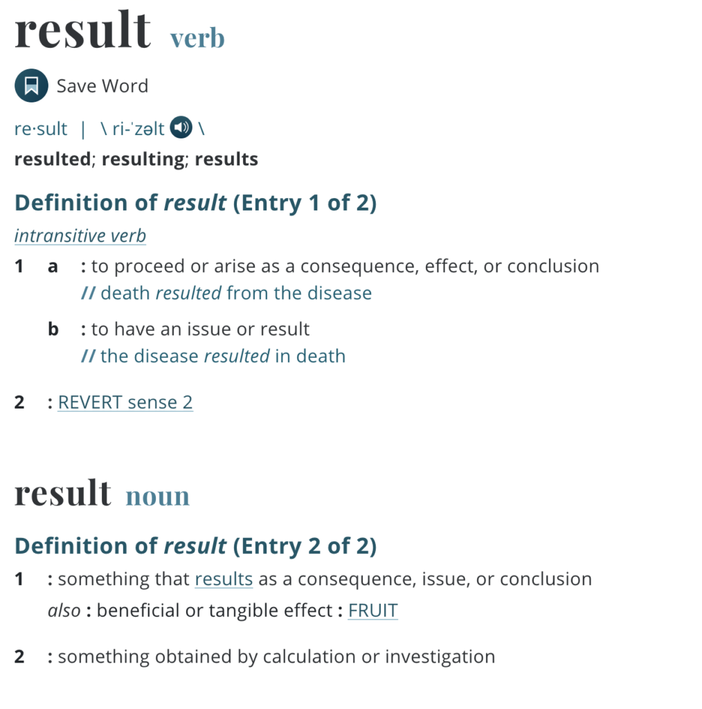 Results: The Wednesday Word